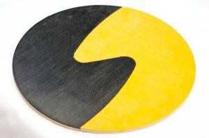 Bilde av Taktile sirkler svart og gul